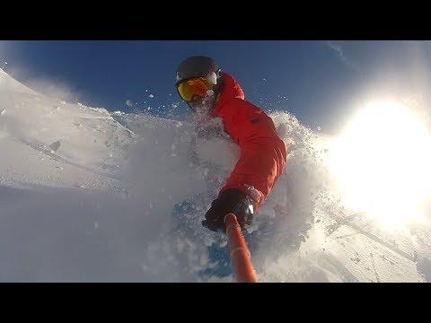 FREERIDE POWDER IN HD GoPro SNOWBOARDING SLOWMOTION 60 FPS