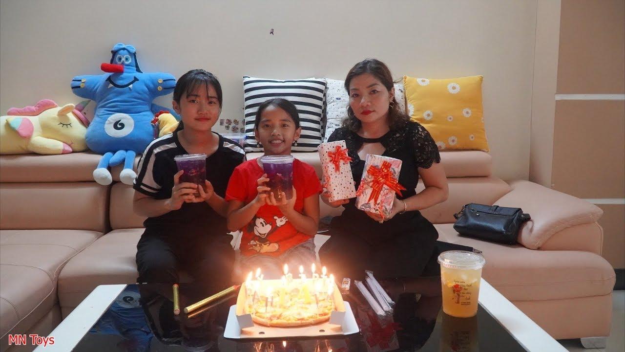 Đi Mua Quà và Bánh Pizza, Trà Chanh Con Cá Chúc Mừng Sinh Nhật Hồng Anh - Gia Đình Vui Vẻ - MN Toys