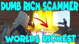 DUMB Rich Kid se arnaque! (Scammer Obtient Scammed) Fortnite sauver le monde