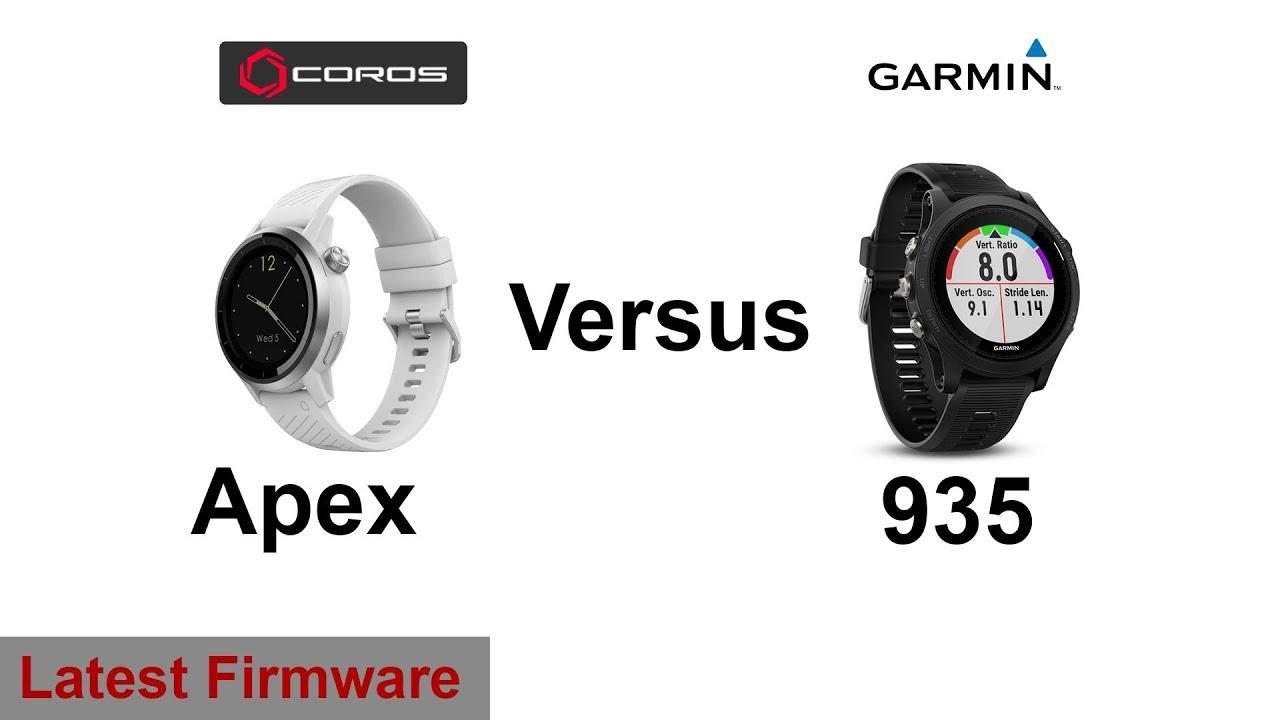 Coros Apex vs Garmin Forerunner 935 | Latest Firmware Updates
