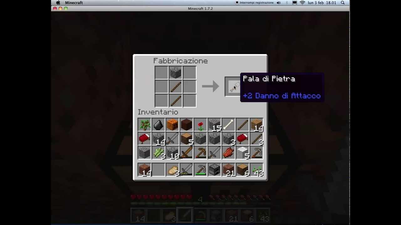 MINECRAFT: come creare,letto,fornace,spada,piccone e pala - YouTube