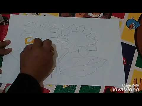 Mewarnai Bunga Matahari Menggunakan Crayon Youtube