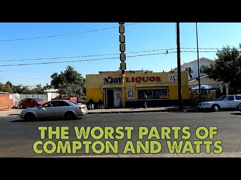 I drove through the ghettos of Compton and Watts near Los Angeles, California. This is what I saw.