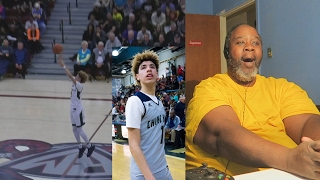 Dad Reacts to LaMelo Ball Shoots From Wherever He Wants... | FULL HIGHLIGHTS