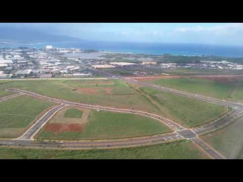 Approach and landing in Kahului, Maui in December, 2015.