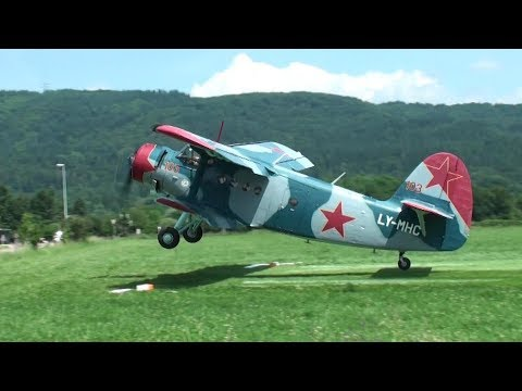 ✈ GREAT Antonov AN-2 - World Biggest Single-engine Biplane - D-Day Sisseln, Switzerland