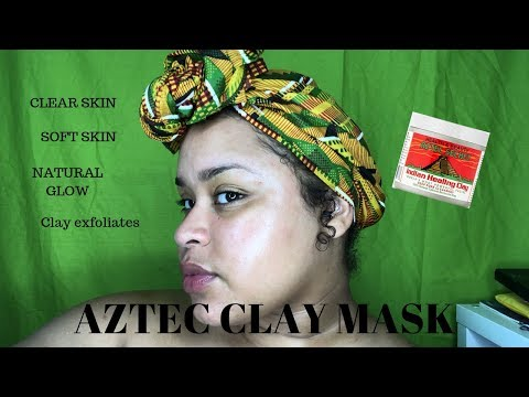 WORLDS MOST POWERFUL MASK? Aztec Clay Mask on Face | youlovesonataaa