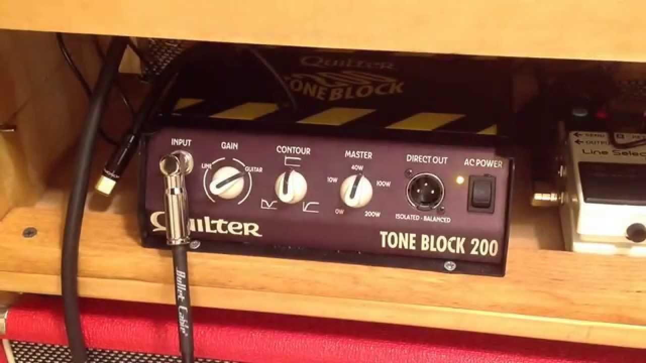 Quilter Tone Block 200 Head With Strat