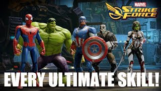 Every Ultimate Skill (28 Characters) - Marvel Strike Force
