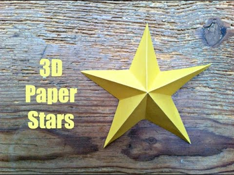Christmas Crafts Simple 3d Paper Stars Youtube