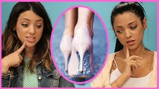 NikiAndGabiBeauty DIY Glitter High Heels | Niki and Gabi DIY or DI-Don't!