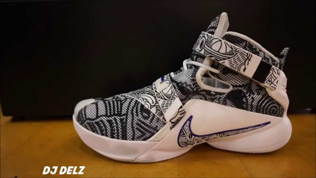 lowest price 4c754 1b47f Nike Lebron Soldier 9 Freegum Shoe Review With Dj Delz - YouTube