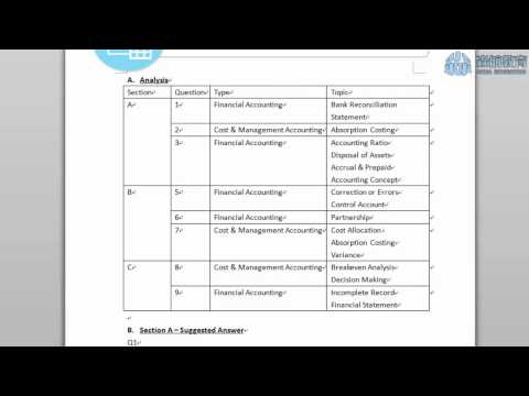 HKDSE BAFS Sample Paper 2A Accounting Module Introduction