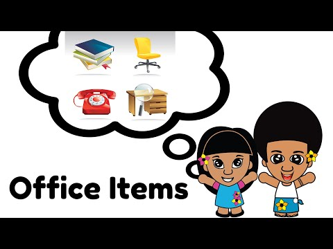 Learn Samoan Language -  Office Items