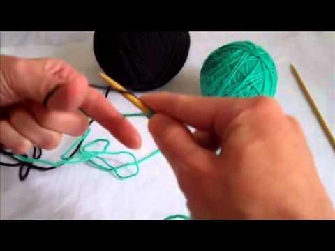 Набор петель со вспомогательной нитью спицами