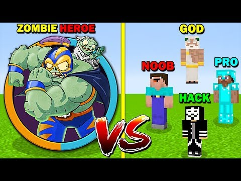 minecraft-battle:-plants-vs-zombies-heroes-3-vs-noob-vs-pro-vs-hacker-vs-god---funny-minecraft-troll