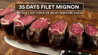 35 Days FILET MIGNON Dry Aged Experiment!