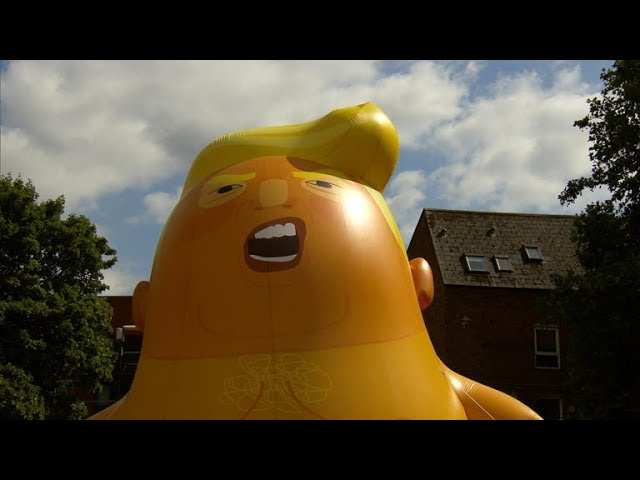 "Protests, ""Trump baby"" balloon expected in London for president's visit"