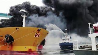В Южной Корее выясняют причины ЧП на танкере с россиянами на борту.