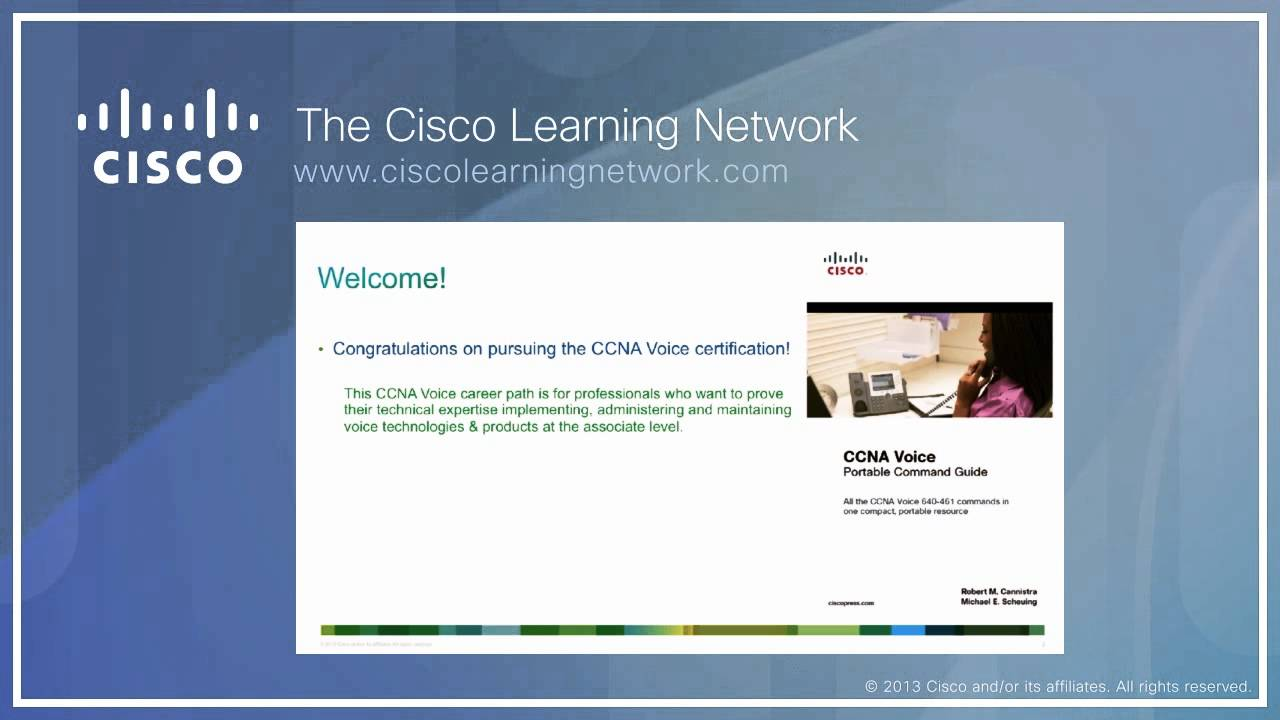 Cisco Learning Network Ccna Voice Portable Command Guide Youtube