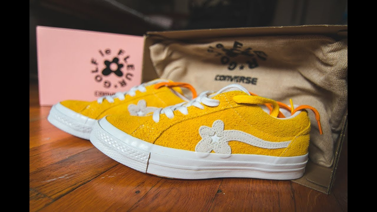 41814f73b4bd CONVERSE ONE STAR OX TYLER THE CREATOR GOLD LE FLEUR SOLAR POWER REVIEW