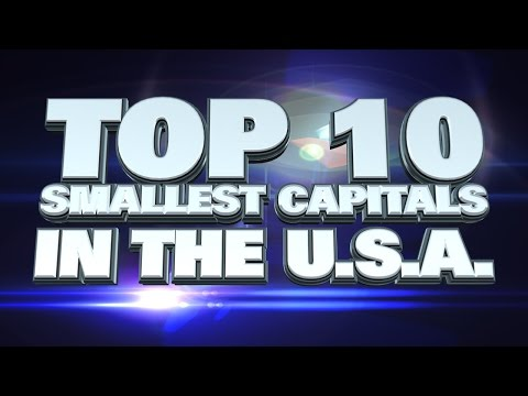 10 smallest capital cities in the USA 2014