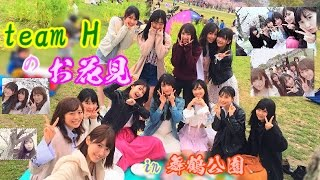 team H の お花見.