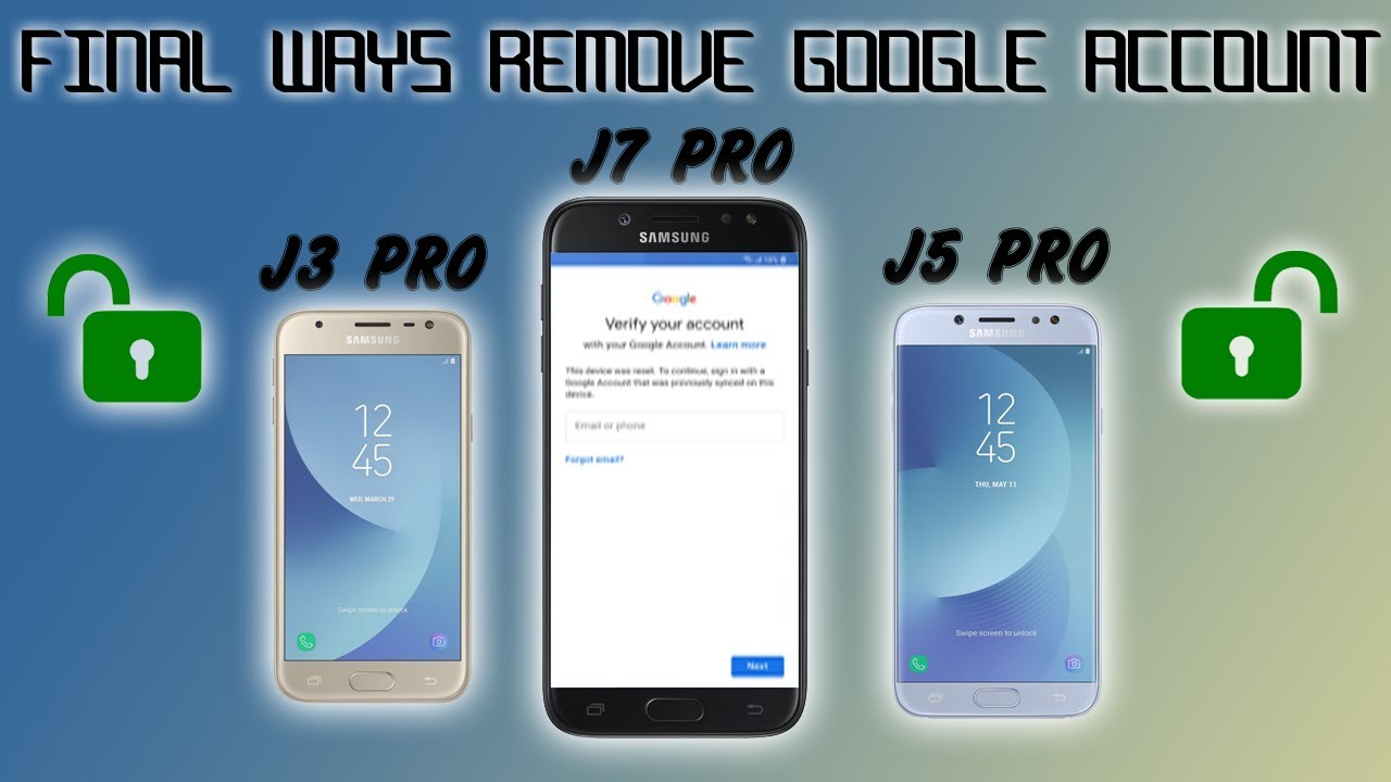 FRP 2019 SAMSUNG GALAXY J3 J5 J7 PRO REMOVE GOOGLE ACCOUNT FINAL SECURITY