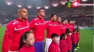 Korea Rep x Switzerland : National Anthems (2013.11.15)