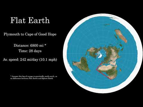 1874 Ship Diary shows the Earth is not flat thumbnail