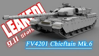 LEAKED! - 9.11 FV4201 Chieftain Mk.6 Stats (FV215b Replacement) || World of Tanks