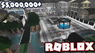 $3 MILLION INDUSTRIAL MANSION w/ GO KART TRACK!!! | Subscriber Tours (Roblox Bloxburg)