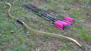 af archery laminated traditional mingbow recurve bow shooting