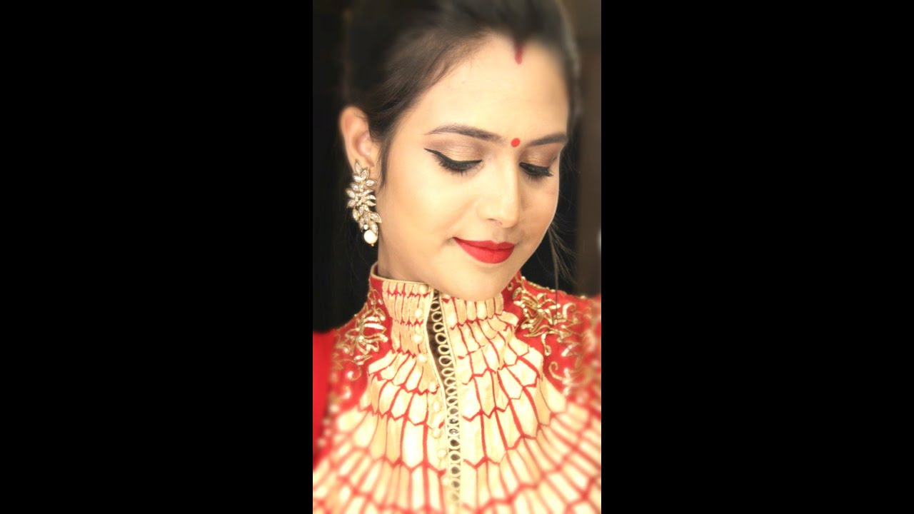 Karva Chauth Makeup And Hair Style Tutorial