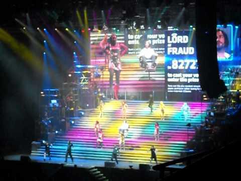 Chris Moyles as Herod in Jesus Christ Superstar, Liverpool Echo Arena