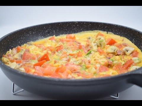 Mushroom, tomato and bacon omelette    Dominique's kitchen