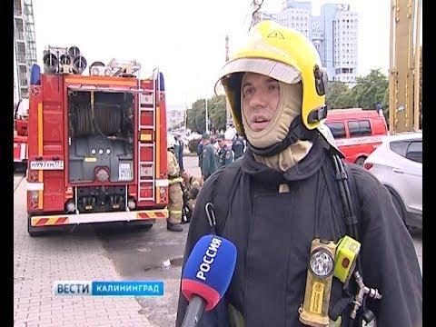 Пожарные на учениях в гостинице «Калининград» удивили иностранцев слаженной работой