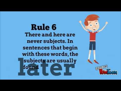 Rules For Subject Verb Agreement Youtube