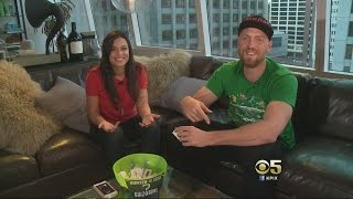 SF Giants' Hunter Pence Faces Fiance In Super Bowl 50 'Quiz Bowl'