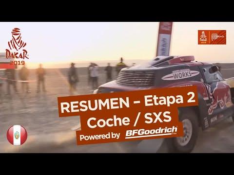 Resumen - Coche/SxS - Etapa 2 (Pisco / San Juan de Marcona) - Dakar 2019