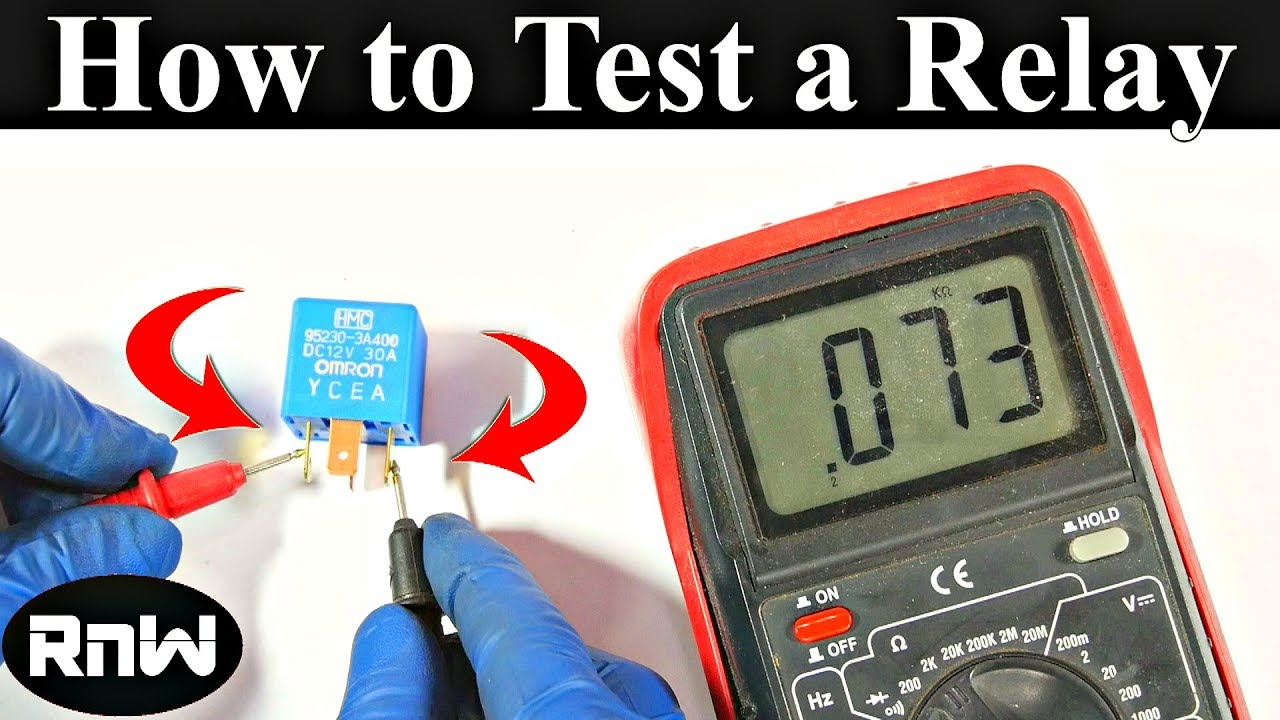 How To Test A Relay The Correct Way Youtube Battery Voltage Meter Wiring Diagram For