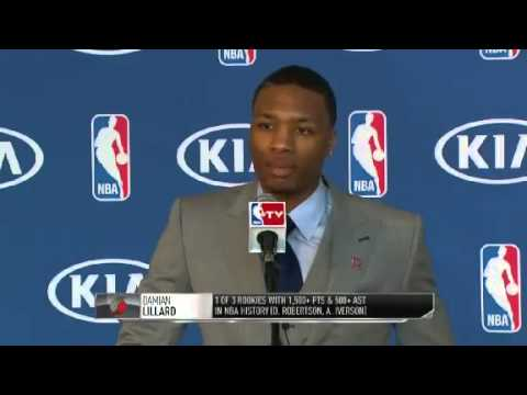 Damian Lillard NBA Rookie of the Year Award Press Conference