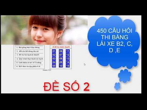 450 CÂU THI BẰNG LÁI XE B2, C, D, E - ĐỀ SỐ 2 | Bộ 15 đề thi