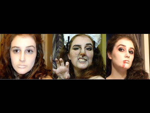 3 Quick, Easy, Cheap Halloween Make-up Tutorials