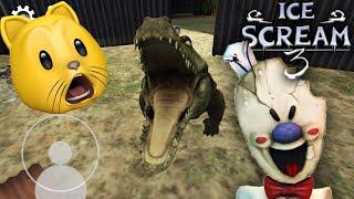 Rod Has A CROCODILE In ICE SCREAM 3!! | Fan Choice FRIGHTday