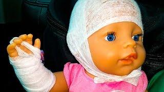 Играем в доктора Кукла Беби Бон упала Доктор Настюшева Игры для девочек едем на машине в путешествие