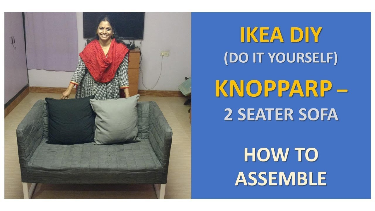 ikea do it yourself knopparp 2 seat sofa how to assemble youtube rh youtube com
