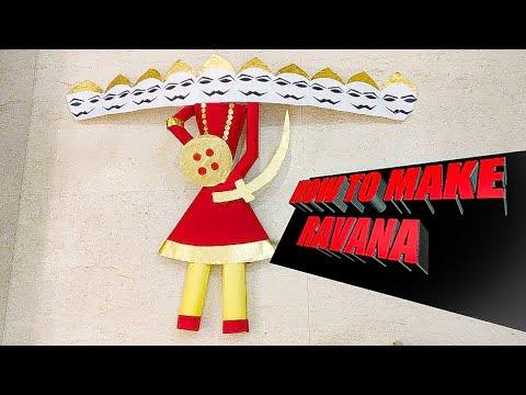 | art art|how to make ravana at home||diy ravana face||ravana using crackers||dussehra special ravan