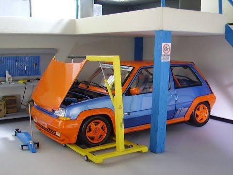 Diorama Garage Workshop Renault 5 Gt Turbo Norev Modified And Audi