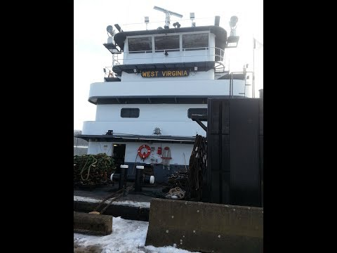 West Virginia River Barge Tug UP CLOSE BOAT CREW